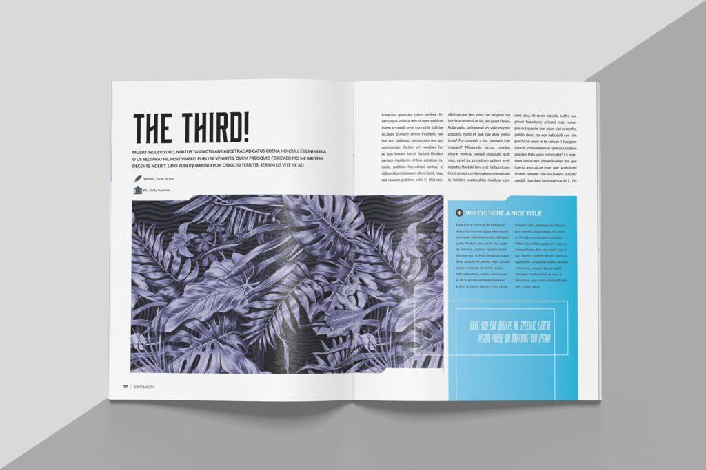 艺术品绘画作品展览画册杂志模板Create Magazine Template插图(4)