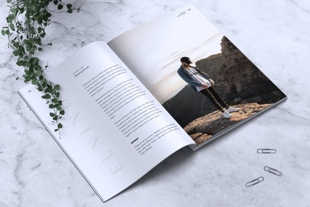 高端企业品牌宣传画册模板ELNINO Minimal Magazine插图(4)