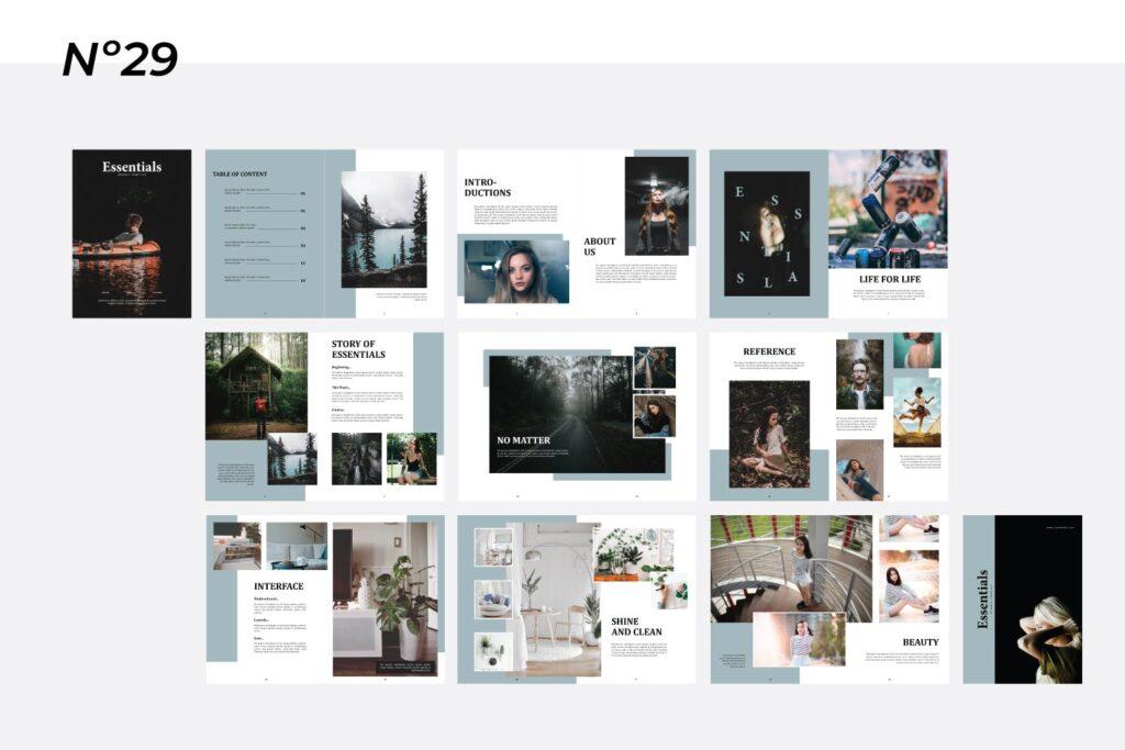 现代简约中性的杂志设计风格Essential Magazine Template插图(4)