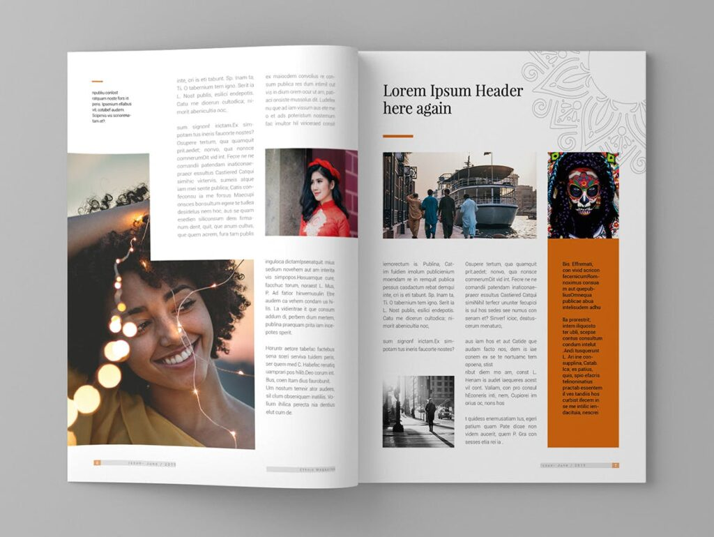 少数民族特色文化主题杂志模板Ethnic Magazine Template插图(4)
