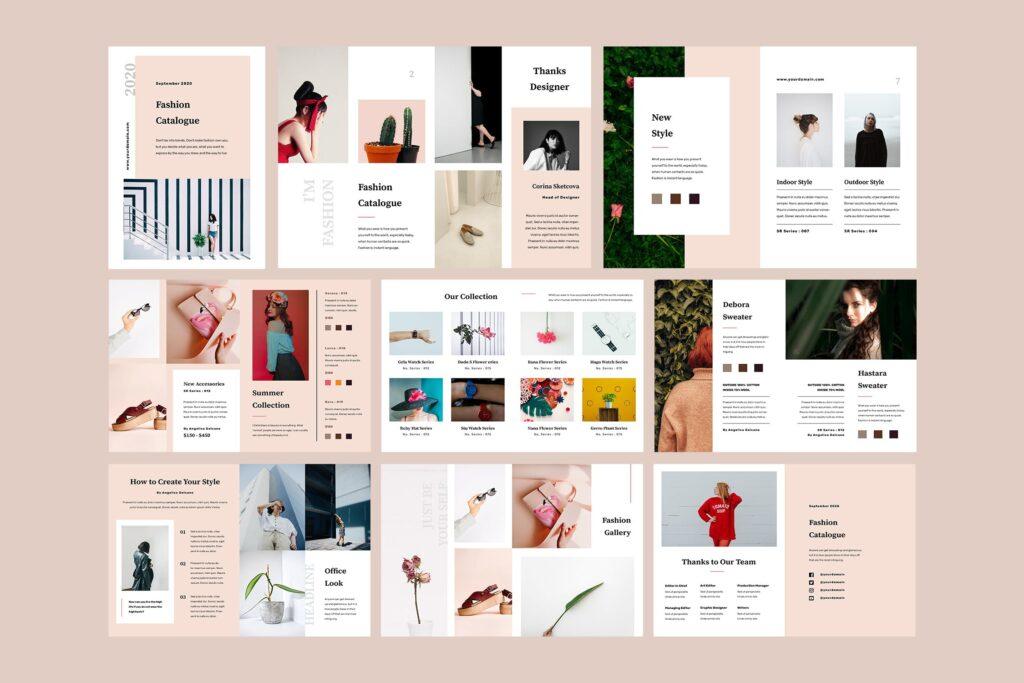 女性时尚服装高端品牌品牌画册模板Fashion Lookbook Catalogue插图(4)