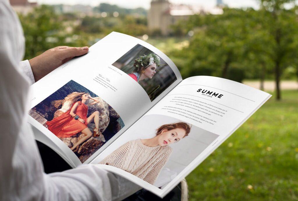 时尚摄影简洁板式画册杂志模板素材下载Fashion Photography Catalog Brochure插图(4)