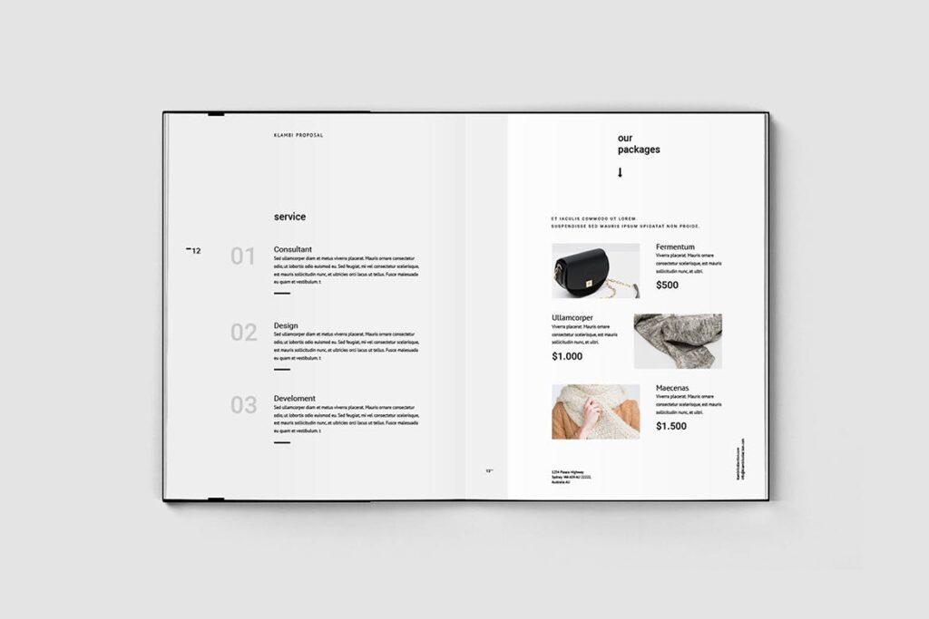 多用途商务手册企业画册模版素材Fashion Proposal插图(4)
