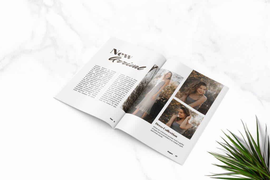 多用途企业产品商务手册模板素材Feels Fashion Magazine Template插图(4)