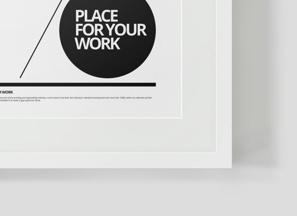黑白艺术相框模型样机素材下载Frame For Your Work Pd73r4插图(4)
