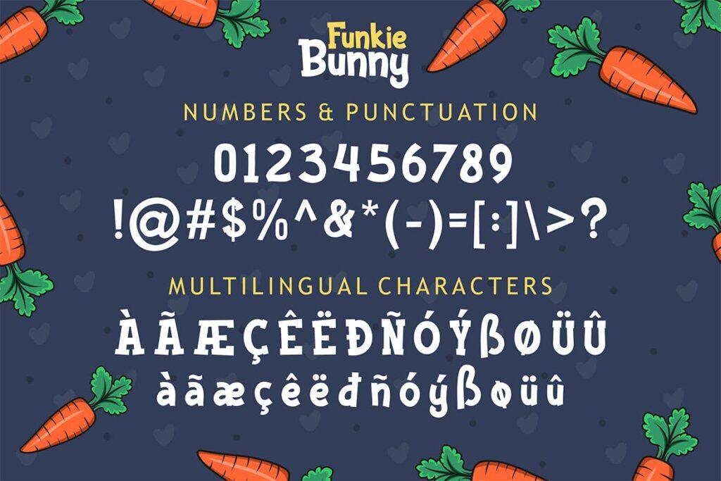 卡通无衬线手写英文字体下载Funkie Bunny Fancy Font (+EXTRA)插图(4)
