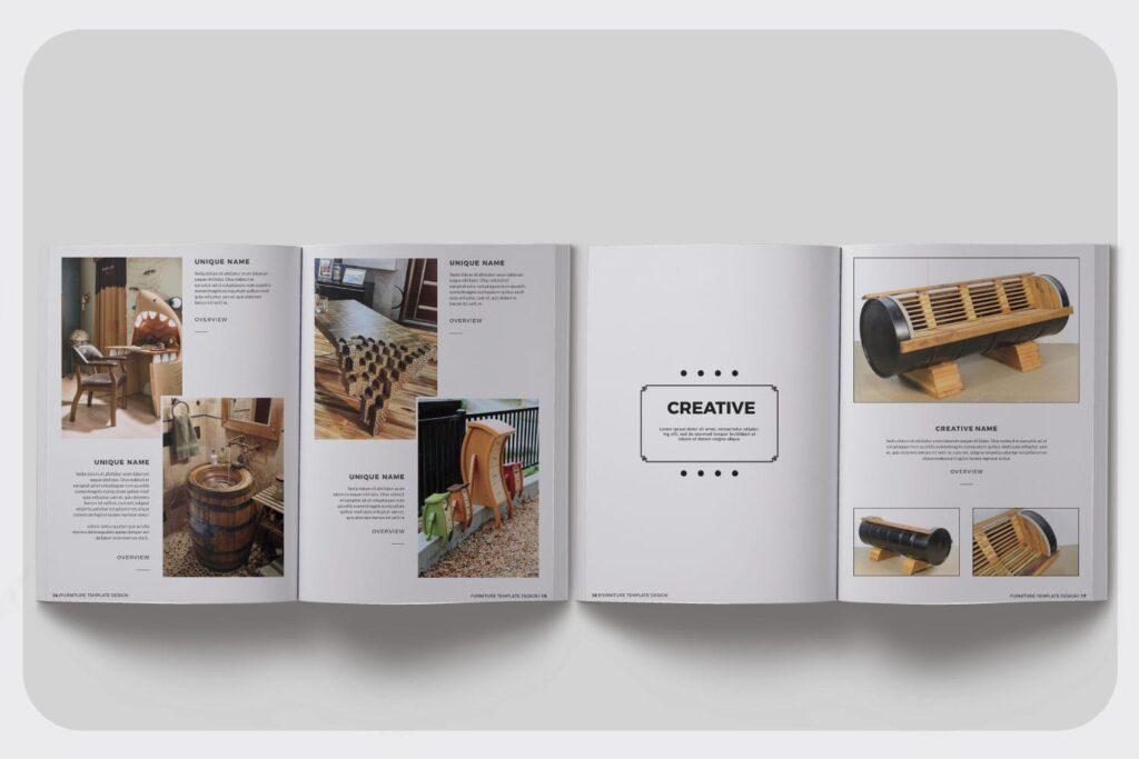 家具设计/室内设计画册杂志模版设计Furniture Collection Lookbook插图(4)