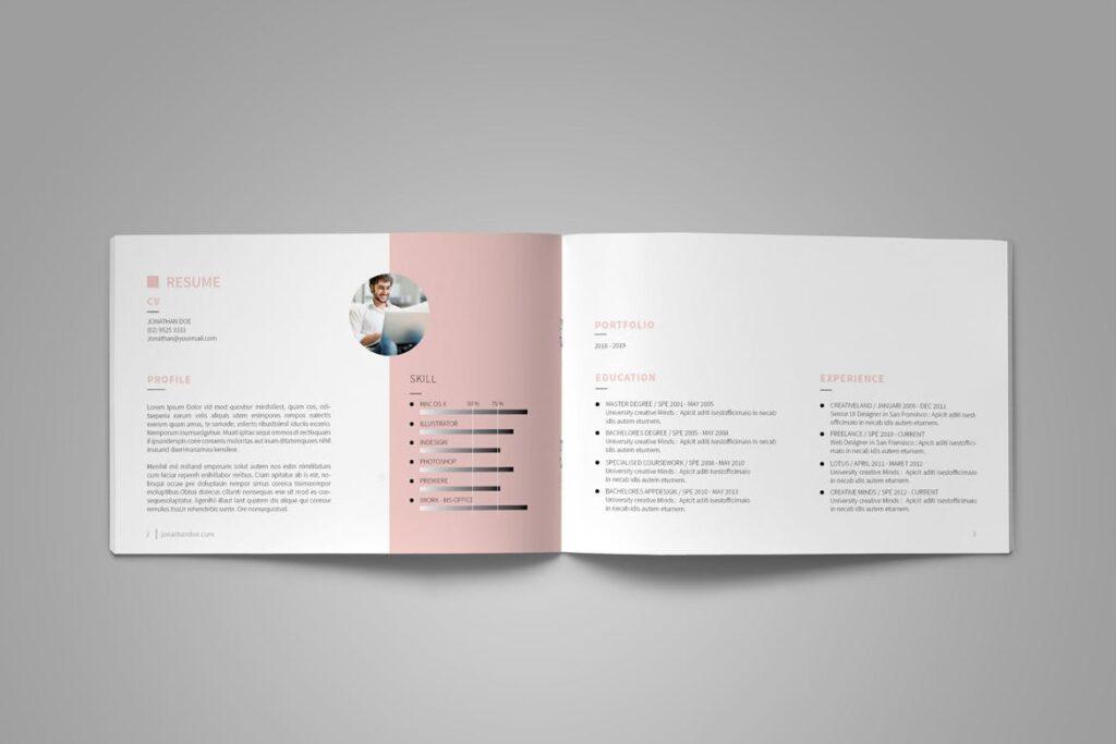 设计师工作产品/室内设计/家居设计展示画册模版Graphic Design Portfolio Template插图(4)
