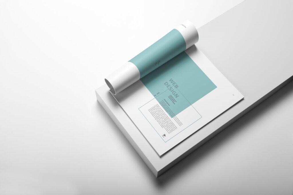 精致文艺室内设计画册模版素材Graphic Design Portfolio Template插图(4)