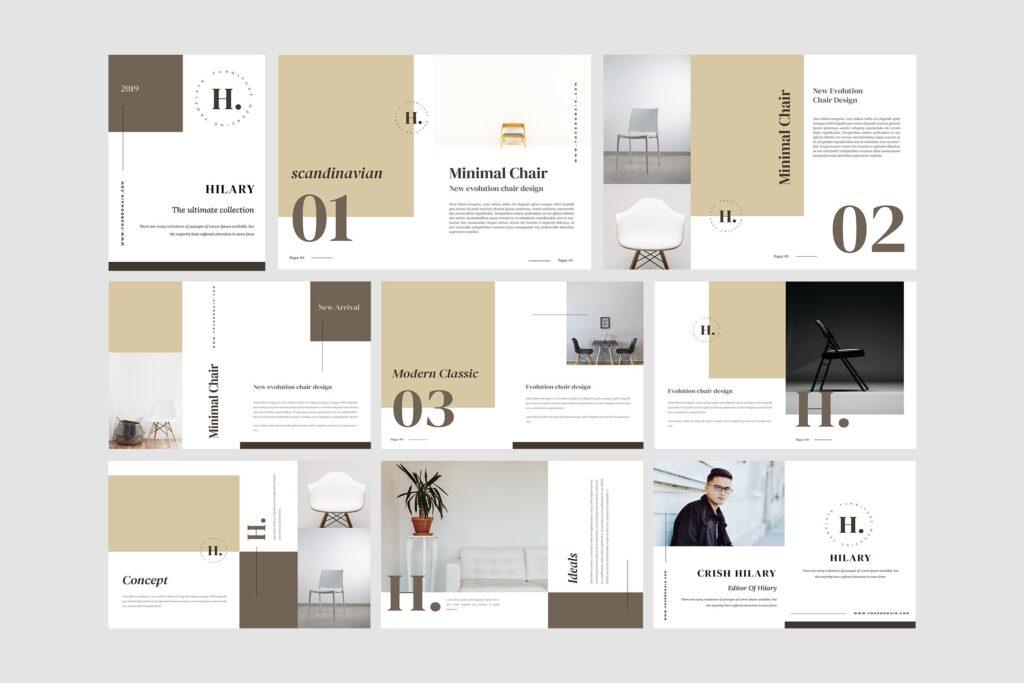 欧美家居/产品介绍画册杂志模版素材Hilary Furniture Magazine Template插图(4)