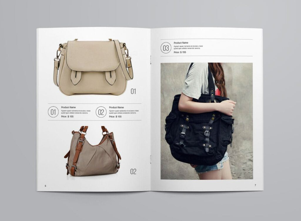 女性时尚用品产品目录画册模板InDesign Product Catalogue Template插图(4)