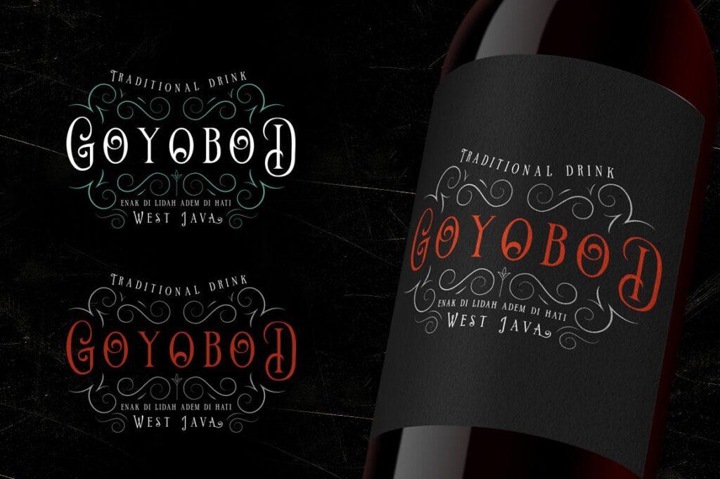 维多利亚风格和古典风格/红酒包装装饰字体Limit Corner Typeface插图(3)