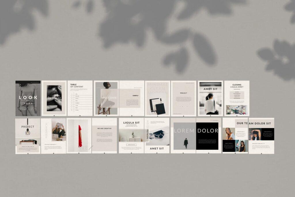 现代简约企业规划书画册模板Lookbook Minimal Brochure Business Company插图(4)