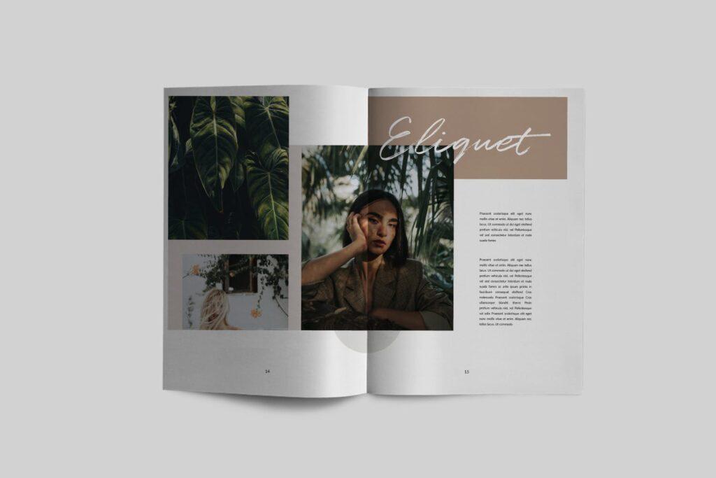 时尚企业产品目录/室内设计案例介绍画册模板Lullaby Lookbook Minimal Portfolio Corporate插图(3)