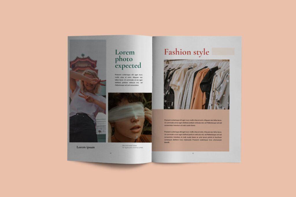 时尚潮流行业/室内设计工作室介绍画册杂志模版Luxury Brochure Catalogue minimal Corporate Agency插图(4)