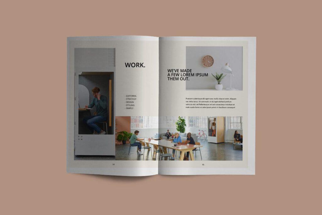 室内设计案例介绍/企业创意产品画册模板Luxville Fashion Magazine插图(4)