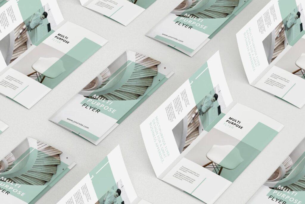 企业简洁板式三折页模板素材下载MINT Multipurpose Trifold Brochure插图(4)