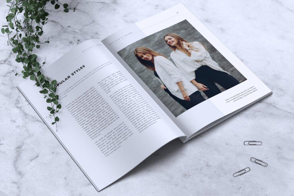 优雅时尚多用途杂志模板MISQUEEN Minimal Magazine Styles插图(4)