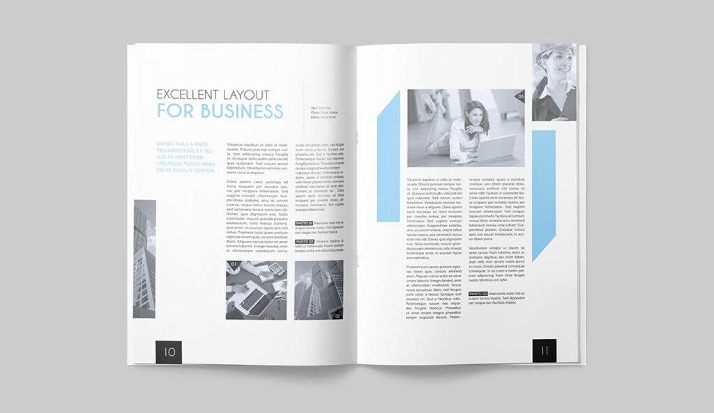 企业多用途杂志画册模板素材下载Magazine Template 4DG6APQ插图(4)