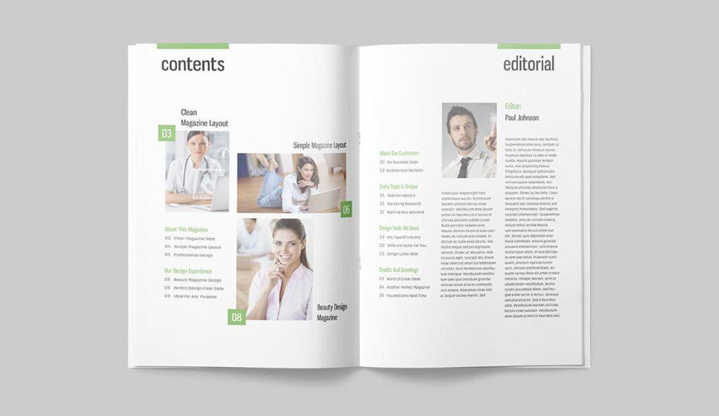 高端医学周刊/医疗咨询杂志画册模板Minimal Magazine插图(4)