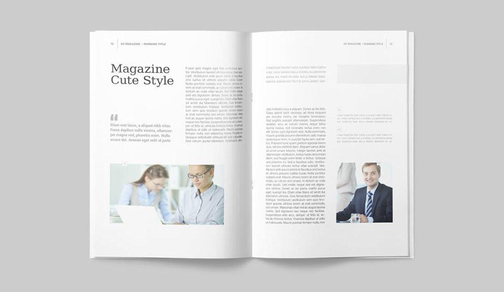 企业商务多用途/企业规划手册模板Magazine Template插图(4)