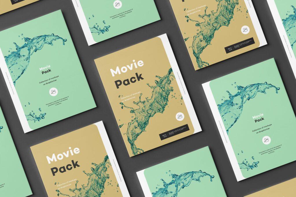 古典电影CD光盘包装/古典音乐唱片模型样机素材模型1Movie Pack Mockup 1插图(4)