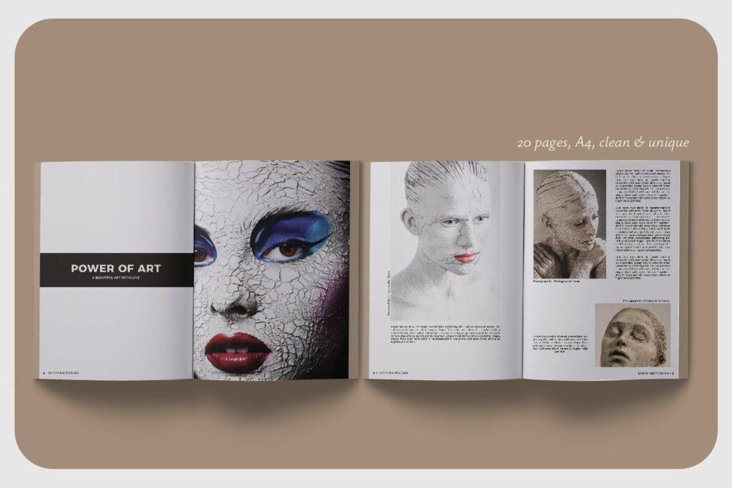 现代简约中性的杂志设计模板Muddy Photograph Magazine Template插图(4)
