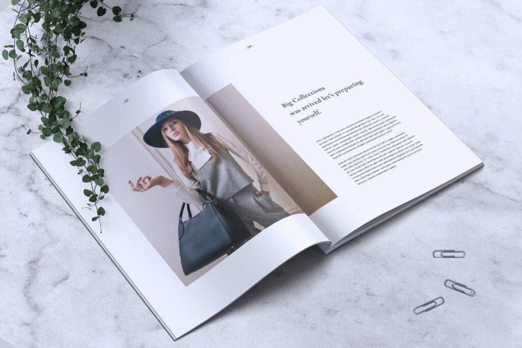 简约企业商务小册子目录/多用途画册模板PLUMERY Minimal Magazines插图(4)