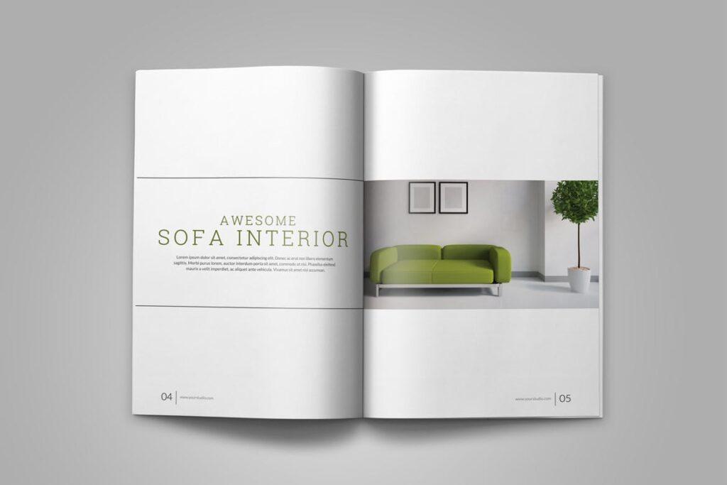 优雅简洁室内设计手册/目录/杂志画册模板PSD Interior Brochures Catalogs Magazine插图(4)