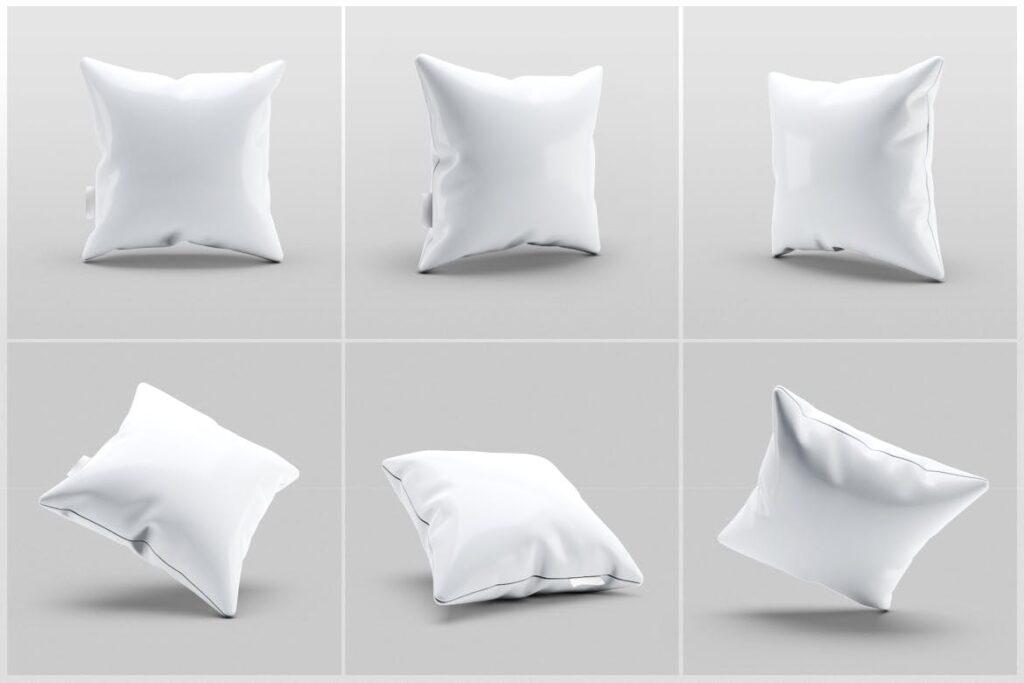 多角度抱枕样机3D模型效果图展示Pillow Mock Up Jb57q3插图(4)