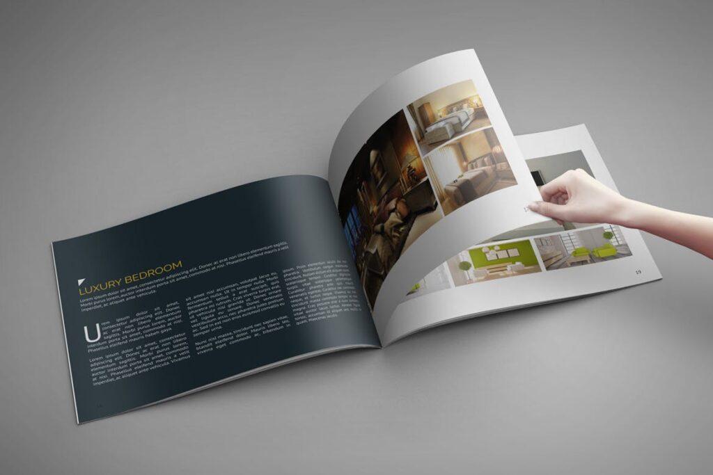横版家居产品介绍/目录/投资组合画册模版素材Portfolio Brochure Catalog插图(4)