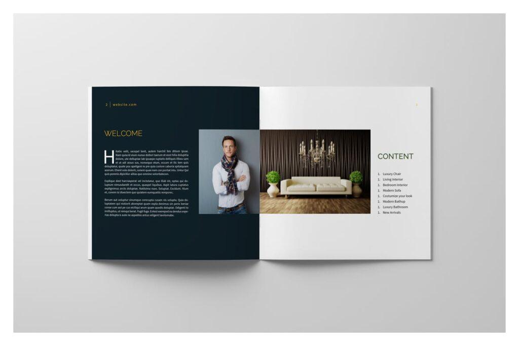 多用途目录/小册子/投资组合画册杂志模板Portfolio Brochure Catalogs插图(4)