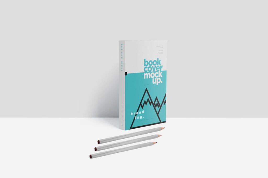 精致文艺书籍封面样机模型效果图Realistic Book Cover Mockups插图(4)