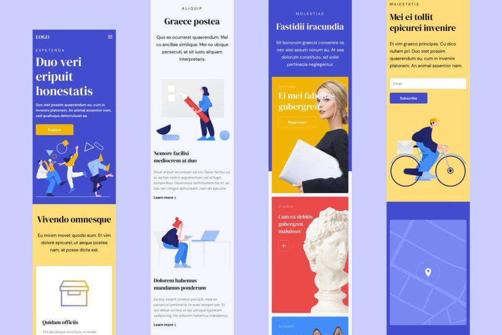 互联网行业响应式网站UI模板素材Responsive Template插图(5)