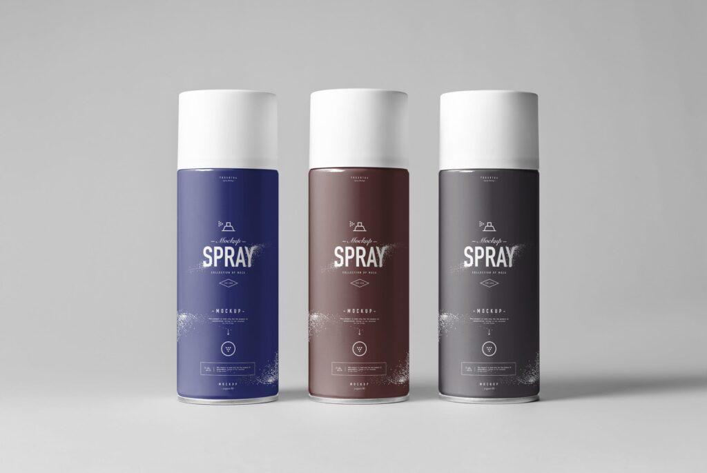 街头艺术喷绘美术作品金属罐模型样机下载Spray Can Mockup 7N8PV8插图(4)