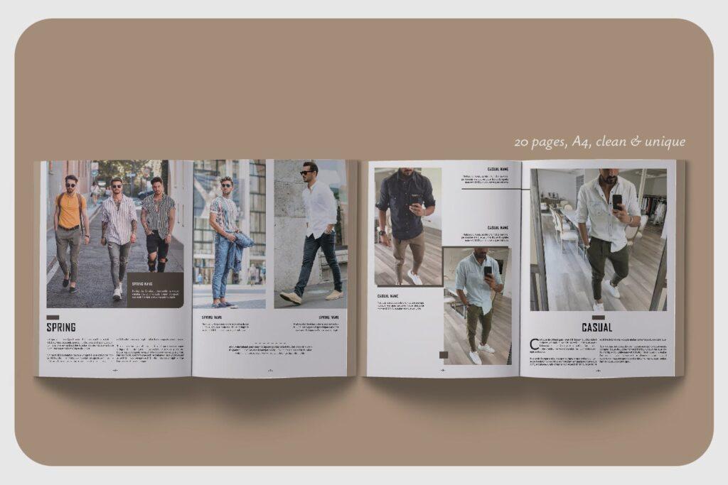 潮流男士服装品牌杂志模版The Mens Lookbook Magazine插图(4)