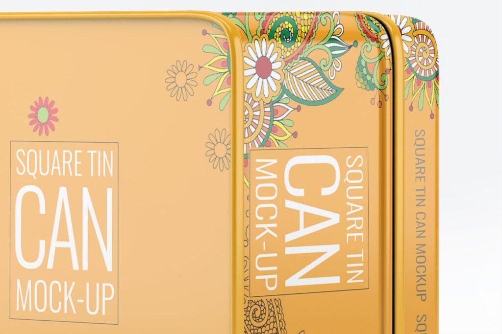高级锡包装罐模型/茶叶包装罐样机素材下载Tin Can Mock Up LQMJ9G插图(3)