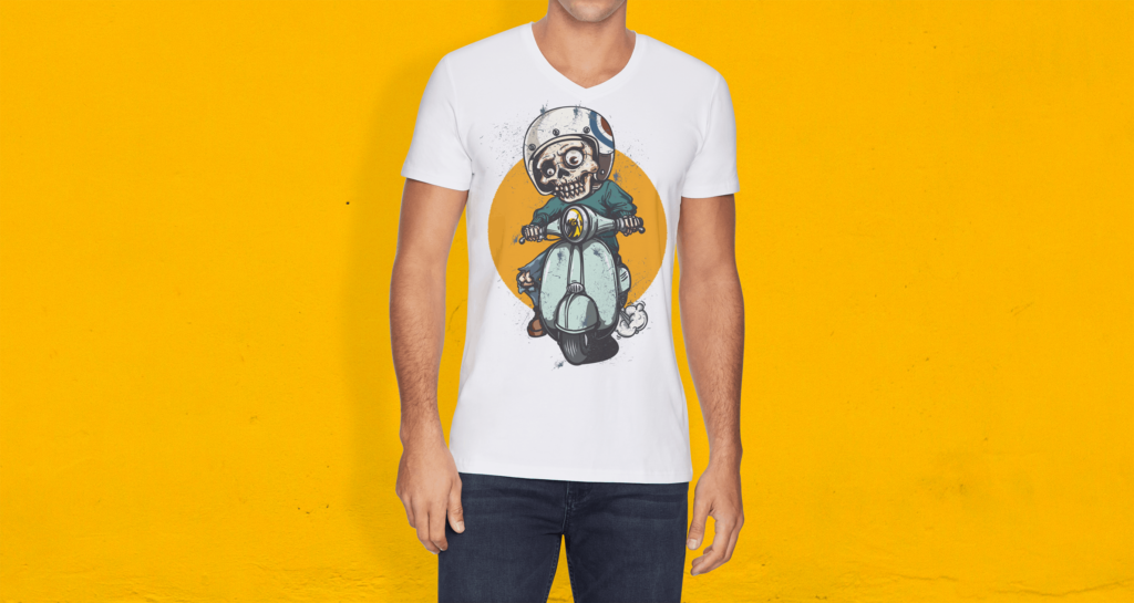 简约艺术类文化衫模型样机效果图V Neck T shirt Mockup Vol 10插图(4)
