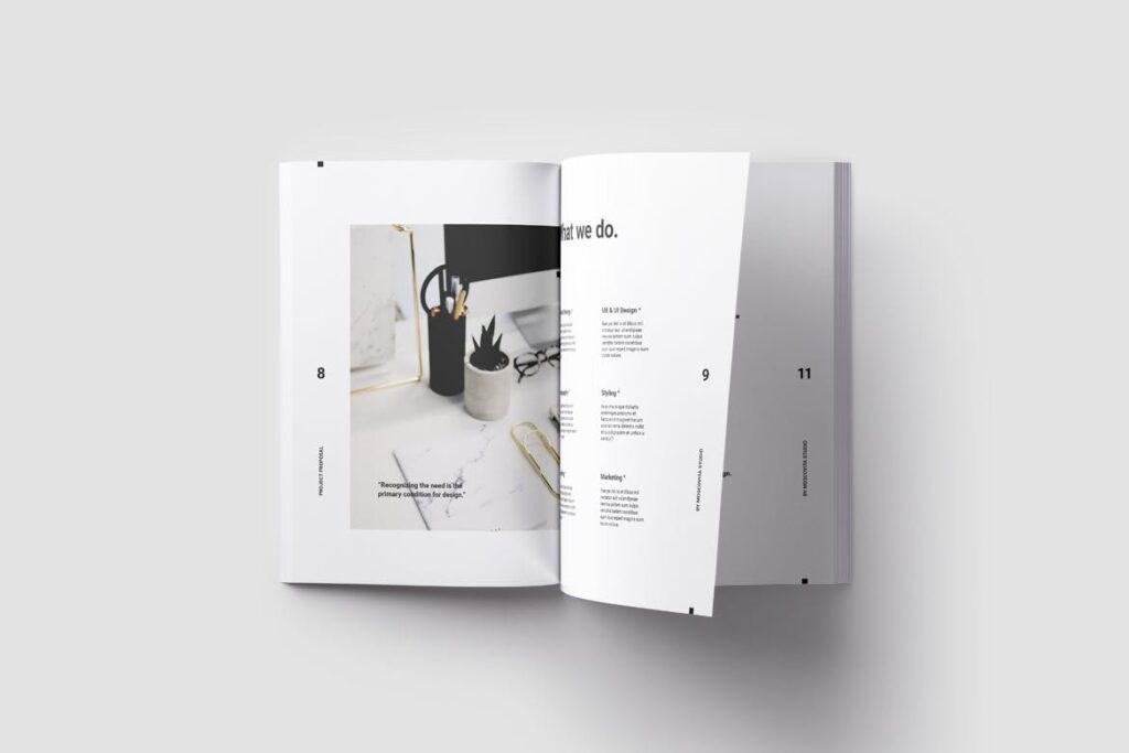 现代生活极致简洁家居设计/室内设计画册模版Voom Proposal插图(4)