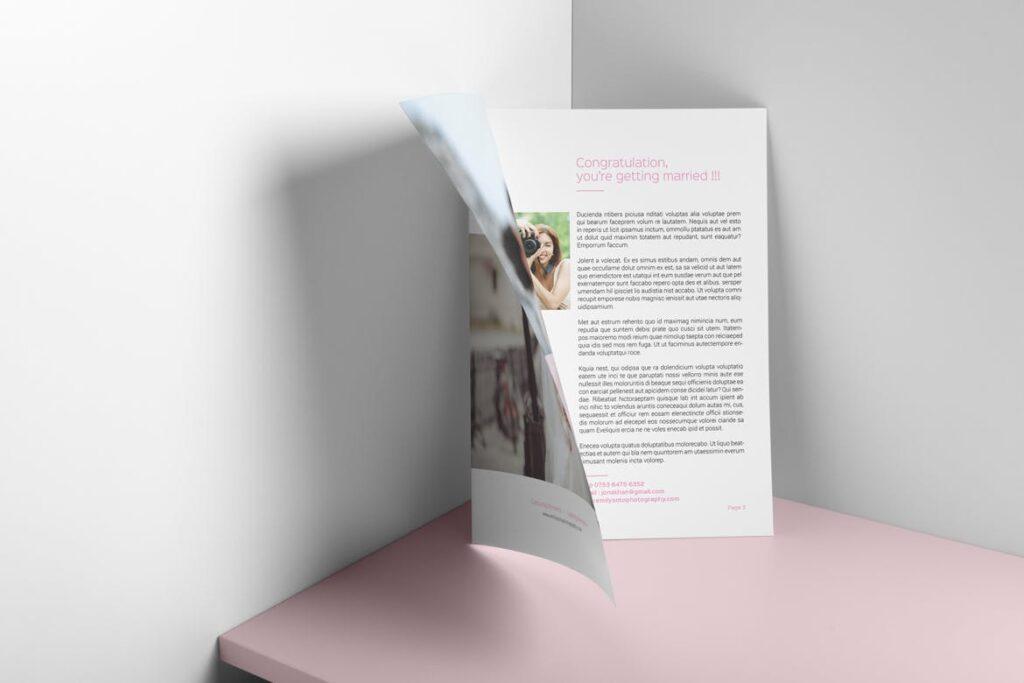 婚纱摄影价格指南/婚纱摄影工作室杂志画册模板Wedding Photography Price Guide插图(4)