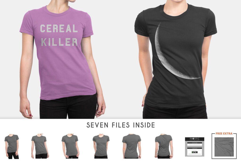 企业文化衫/高质量的t恤模板样机下载Womens T Shirt Mock ups插图(4)