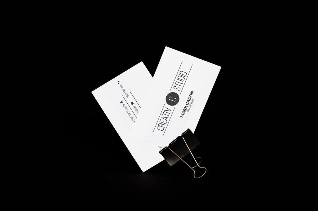 5个多场景名片展示样机效果图5 Business Card Mock Up Pack Vol 01插图(5)