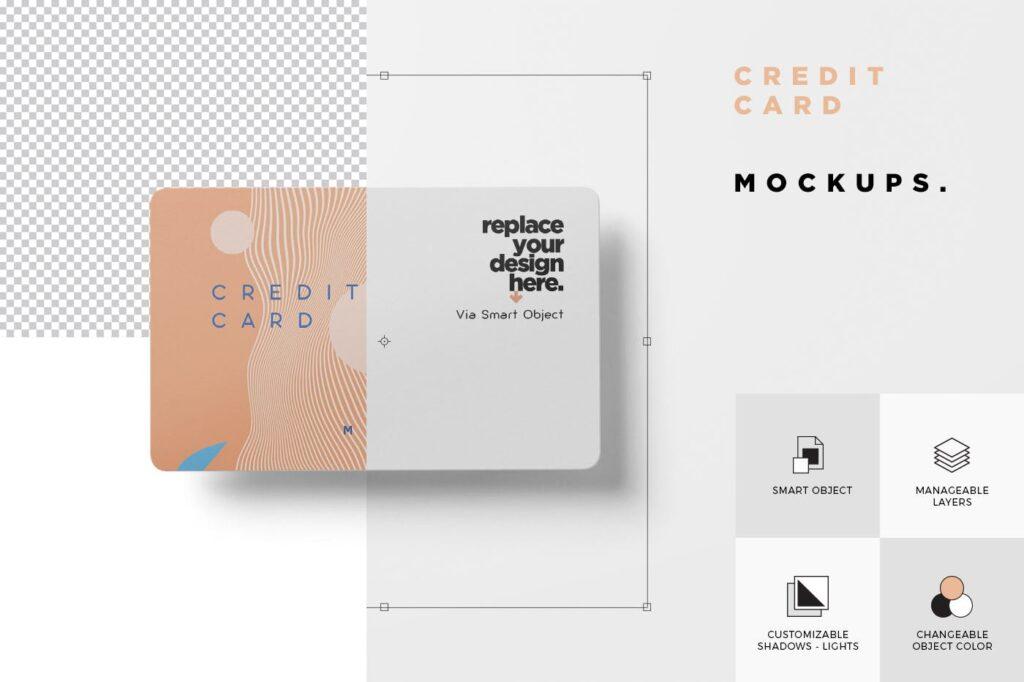 名片包装盒样机模型/信用卡模型样机素材下载5 Credit Card Mockups插图(5)