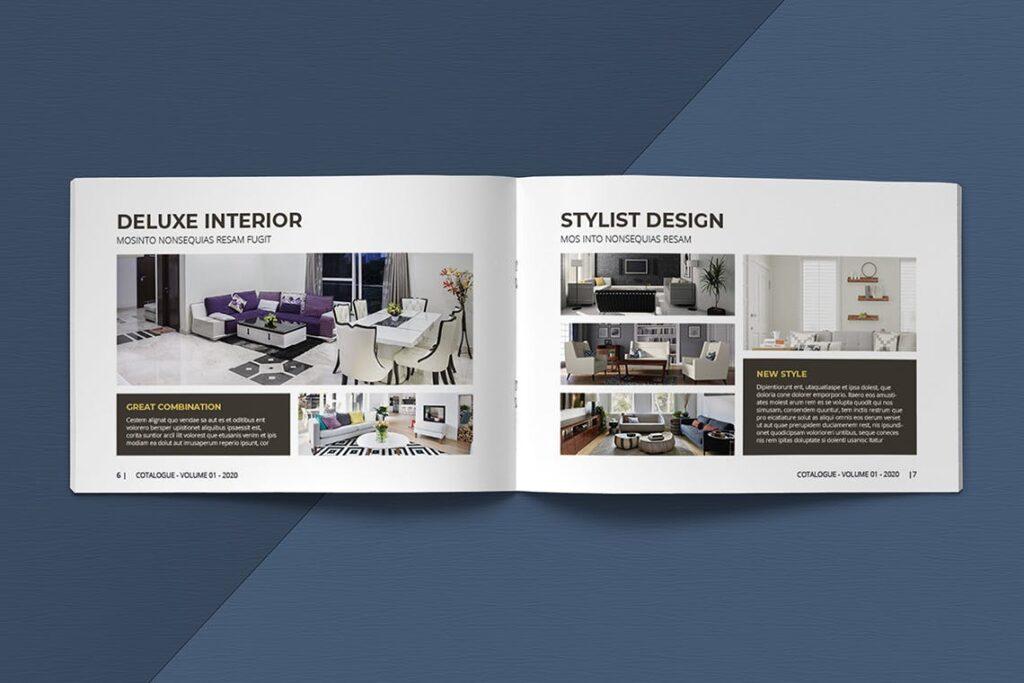 横版家居室内设计画册杂志模版A5 Interior Catalogue ASFEWQ插图(5)