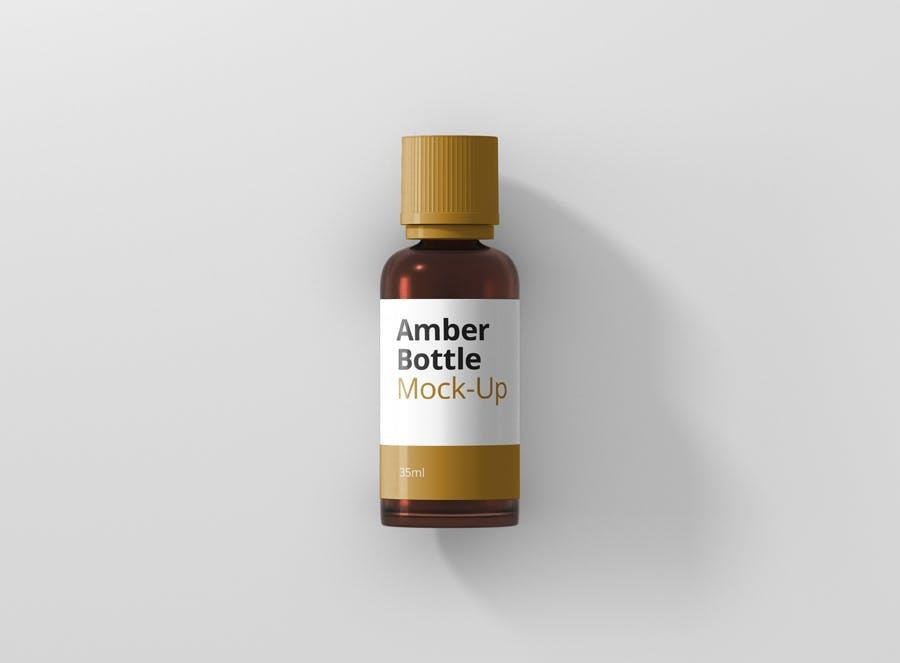 6个高品质琥珀药品瓶模型样机Amber Bottle Mockup插图(5)