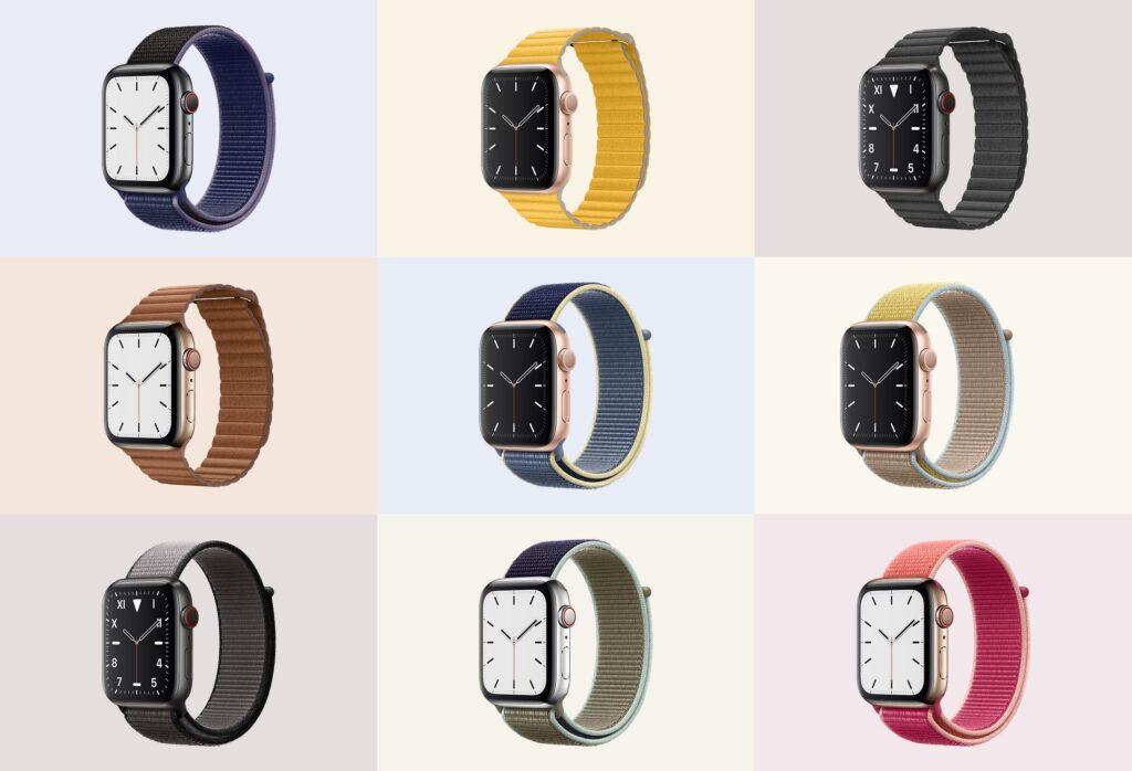 苹果手表系列5展示效果图样机模型下载Apple Watch Mockup Series 5插图(5)