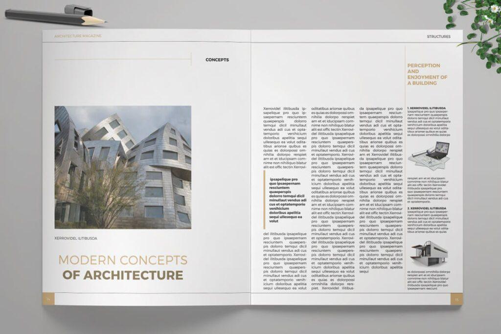 建筑设计/生态空间规划杂志模板Architecture Magazine插图(4)