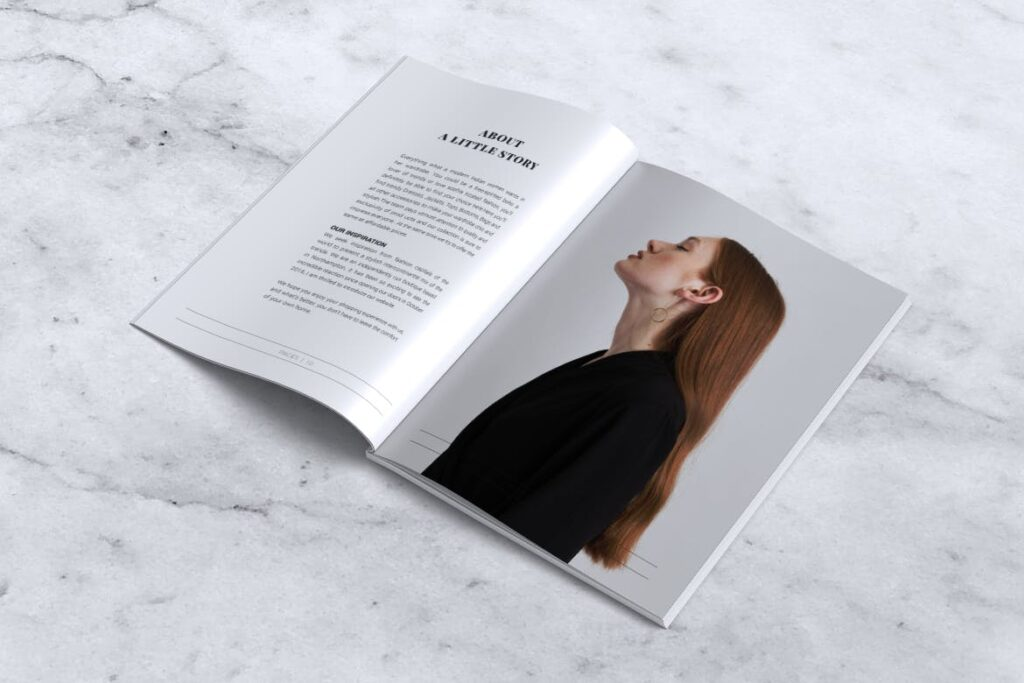 女性时尚服装品牌杂志模板BLANKS Minimal Fashion Magazine插图(5)