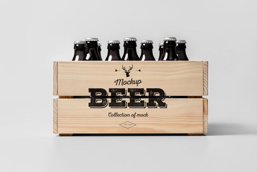 啤酒品牌包装/啤酒瓶包装模型样机模型下载Beer Mockup 2 DV9XAA插图(5)