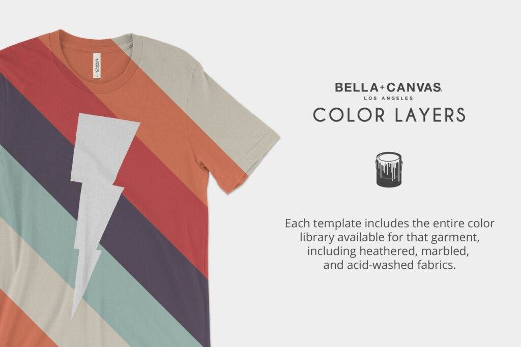 4K分辨率男士T恤展示效果样机素材Bella Canvas 3001 T Shirt Mockups插图(5)